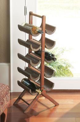 Standing wine rack plans