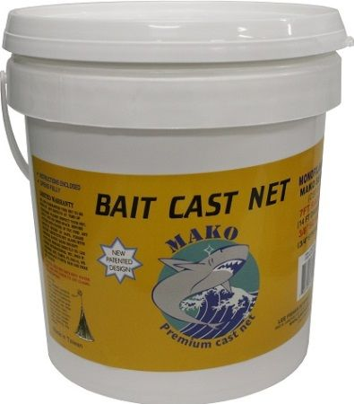 Lee Fisher CBT-S6 Mako Bait Premium Cast Net, White; 3/8