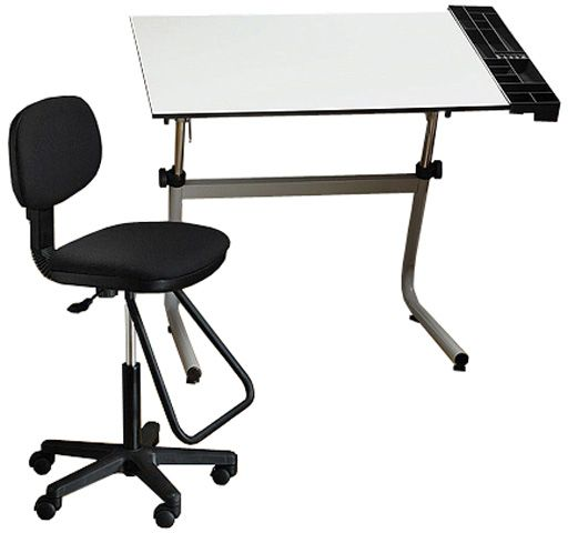 Alvin CC2001D Vista Creative Center Drafting Table Drafting Chair Set Contemporary Heavy-duty Tubular metal design for strength and durability ...  sc 1 st  SaleStores.com & Alvin CC2001D Vista Creative Center Drafting Table Drafting Chair ...