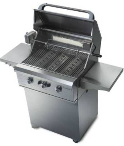 Capital CCE26XC-L Titanium X Series 26-Inch Stainless Steel Built In Propane Gas Grill on Cart without Rotisserie, Two 20,000 BTU stainless steel U-shaped burners (CCE26XCL CCE26XC CCE26 CCE26X)