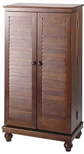 Leslie Dame CD-612VM Louvered Door Mission Style Multi-Media ...