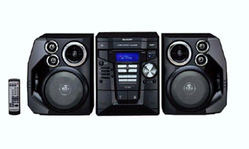 Shelf System With 3 Cd Changer And 4 Way 5 Speaker System