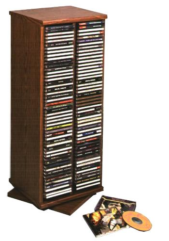 Leslie Dame Cdt200 Hand Crafted Revolving Cd Tower Deluxe
