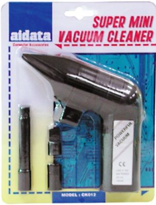 Aidata CK012 Super Mini Vacuum Cleaner, Perfect to clean dust from hard to reach areas, Ideal for keyboards and computer systems (CK-012 CK 012)