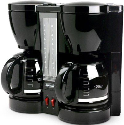 Select Brands CM-202 Kitchen Selective 12-Cup Dual Coffeemaker, Independently brews one or two ...