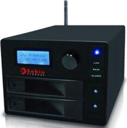 Sabio Storage Cm204 2000 Two Bay Wireless Nas Network