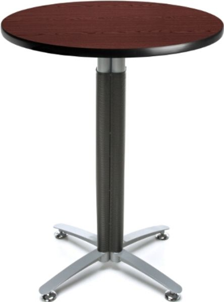 OFM CMT30RD-MHGY Metal Mesh Base Cafe Table - 30