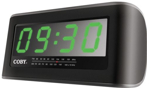 coby cra108 digital am fm jumbo alarm clock radio 2 inch led display two le. Black Bedroom Furniture Sets. Home Design Ideas