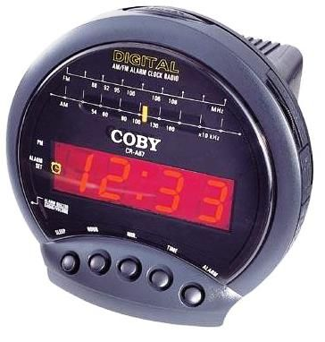 coby cr a67 digital am fm alarm clock radio with big led display cra67 sale stores www. Black Bedroom Furniture Sets. Home Design Ideas