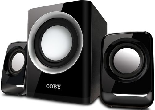 Coby Csmp67 Multimedia 50w Speaker System Designed For Use With Mp3 Players Computer Systems And More
