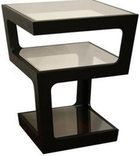 Wholesale interiors ct 089b black clara black modern tall for Tall black end table