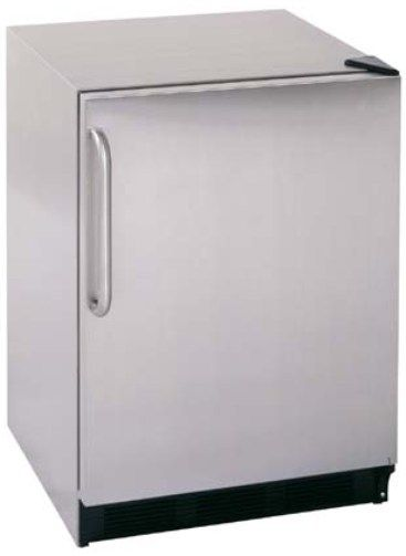 Summit CT66LCSS Deluxe Under Counter Refrigerator Freezer With Fully  Wrapped Stainless Steel Cabinet And Wrapped Door With Pro Handle, Stainless  Steel, ...