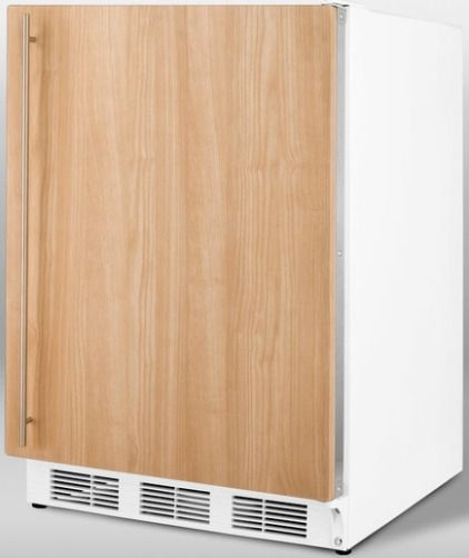 Summit CT67IF Freestanding Refrigerator Freezer With Stainless Steel Door Fra