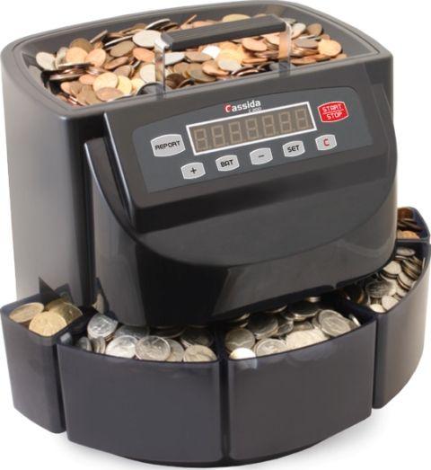Cassida C200 Electronic Coin Sorter Counter 300 Coins Min
