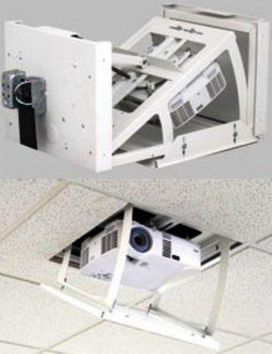 Da lite 8142 da lift pivot 33p motorized projector lift for Motorized ceiling projector mount