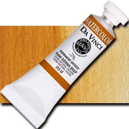 Da Vinci 273-1F Watercolor Paint, 15ml, Raw Sienna Deep; All Da Vinci watercolors have been reformulated with improved rewetting properties and are now the most pigmented watercolor in the world; Expect high tinting strength, maximum light-fastness, very vibrant colors, and an unbelievable value; Sold by the each; UPC 643822273117 (DAVINCI2731F 2731F DA VINCI 273-1F WATERCOLOR 15ml RAW SIENNA DEEP)