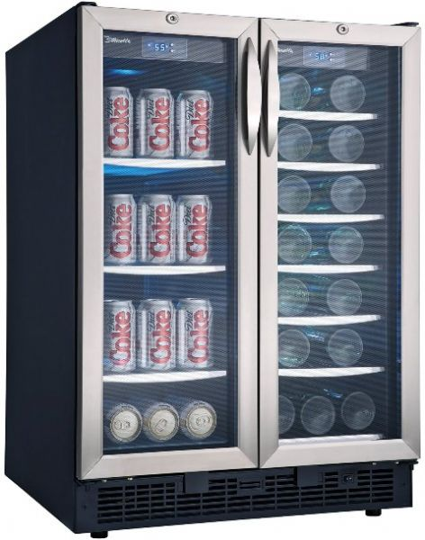 danby dbc2760bls silhouette series builtin beverage centerwine cooler 50 cu ft for up to 60 beverage cans and 27 bottles of wine capacity