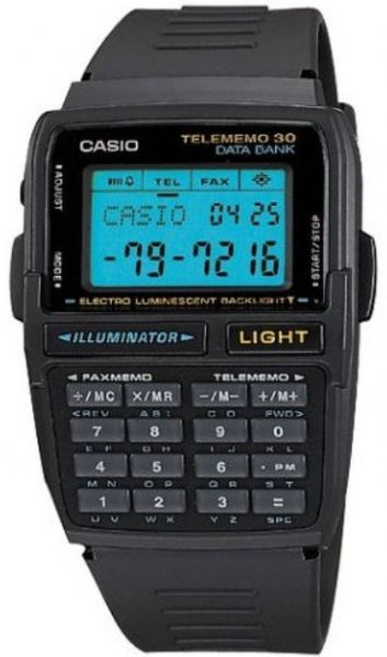 Casio DBC30-1 Men's Databank Digital Watch, 30-page databank 8 letters