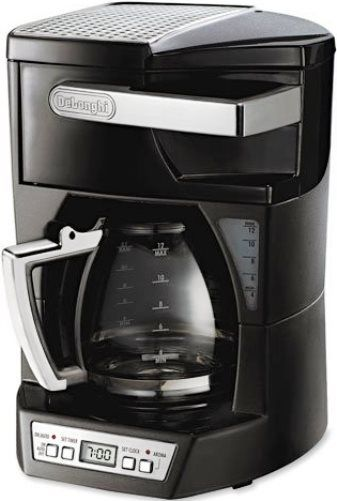 DeLonghi DCF2212T Drip Coffee Maker, 12-cup capacity, 970W Power, Aroma Button, 24-hour ...