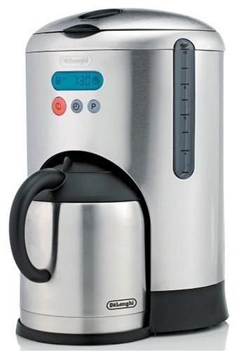 Delonghi Coffee Maker Stainless Steel Carafe : DeLonghi DCM485 Remanufactured Thermal Carafe and Coffeemaker 10-Cup, Brushed Stainless Steel ...