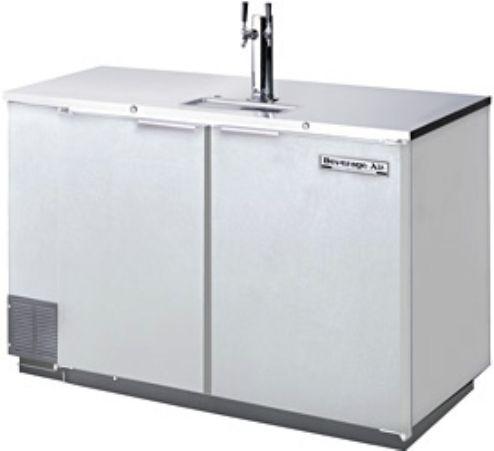 beverage air dd50 1 s 01 stainless steel beer dispenser 2 keg kegerator 74 amps 60 hertz 1 phase 115 volts 198 cu ft - Beverage Air Kegerator