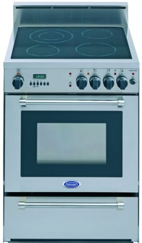 Delonghi Deglsc24 Free Standing 24 Inch Smoothtop Electric Range With Warming Drawer In Stainless Steel