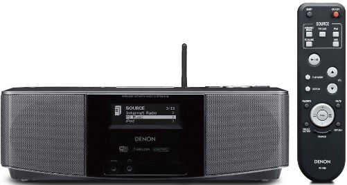 denon s 32 networked audio system with built in ipod dock digital am fm radio and alarm clock. Black Bedroom Furniture Sets. Home Design Ideas