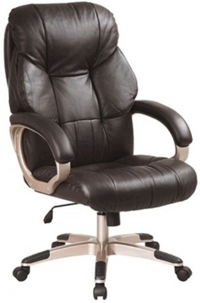 Office Star DHL3081 Soft Leather Executive Chair Contoured Seat And Back Bu