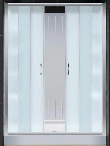 Clear Glass Sliding Shower Doors 452 x 600