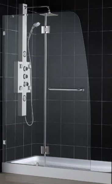 dreamline dl 6332l 01cl aqua lux shower door with clear glass tempered 5 16 8mm clear