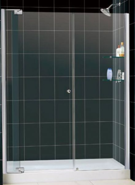 Dreamline DL-6421L-01CL Allure Shower Door with Clear Glass, 3/8 ...