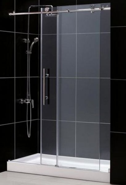 dreamline dl6611c08cl enigmax sliding shower door with clear glass 60