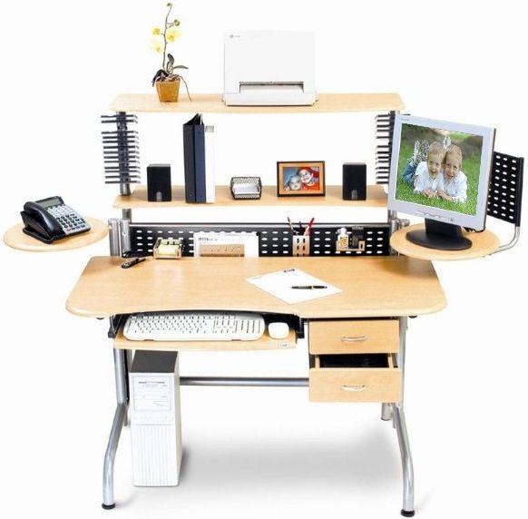 Leda Dl B52 Adjule Series Computer Desk Lcd Monitor Design Slid Out Keyboard Tray Cpu Printer