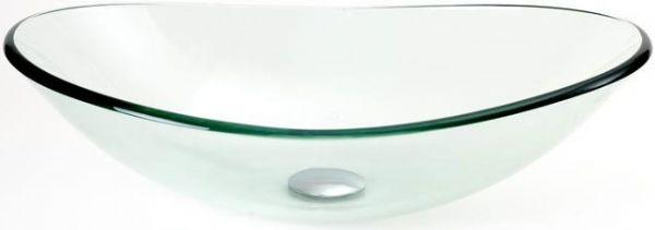 Dreamline DLBG 01 Ellipse Vessel Sink, Glass Material, Clear Glass Color,  Oval