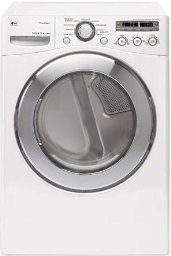 Lg Sensor Dryer ~ Lg dlgx w front load gas steamdryer white cu ft