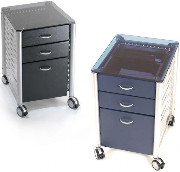 Nice Innovex DL KG02 Three Drawer File Cabinet, Stylish Tempered Glass, Four  Large Wheels With Locks, Powder Coated ...