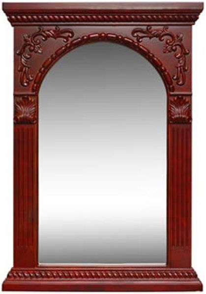Dreamline DLMBJ-02AC Antique Cherry Cathedral Mirror, Solid wood ...