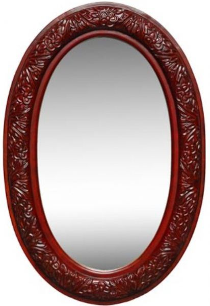 Dreamline DLMBJ-03AC Oval Mirror in Antique Cherry, Solid wood frames with hand carving, Available in Antique Cherry, Finish matches available vanity cabinets (DLMBJ-03AC DLMBJ03AC DLMBJ 03AC DLMBJ03 DLMBJ 03 DLMBJ-03 DLMBJ)