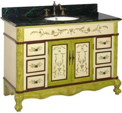 bathroom antique vanity solid antique green birch wood cabinet frame