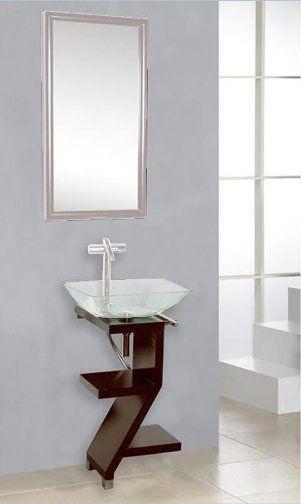 Dreamline Dlvg 208 Mh Modern Bathroom Glass Vanity Set Mahogany - Contemporary-bathroom-vanities-from-dreamline