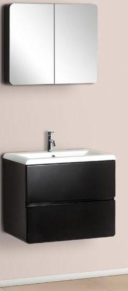 Dreamline Dlvrb 104 Bk Wall Mounted Modern Bathroom Vanity With - Contemporary-bathroom-vanities-from-dreamline