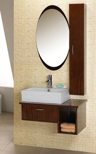 Dreamline DLVRB-133-WN EuroDesign Bathroom Vanity, Walnut, Vanity ...