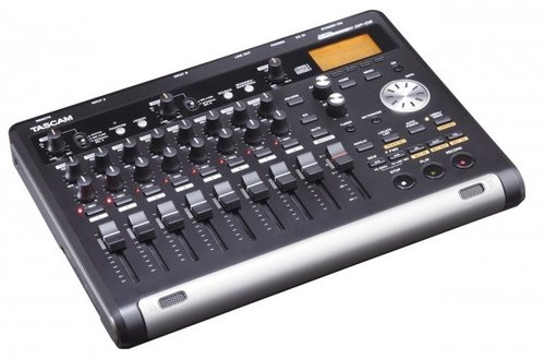 Tascam DP-03SD 8-Track Digital Portastudio w/CD Burner, 8-track Digital Portastudio, Records to SD/SDHC Card media, Import WAV files from USB, Built-in stereo condenser microphone, Two XLR microphone inputs with phantom power, 1/4