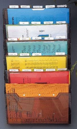 Axcess DR60125W6 StationMate Project Organizer, Wall Mounted, Six Pocket,  Transparent Smoked Acrylic (DR 60125W6 DR 60125W6 ...