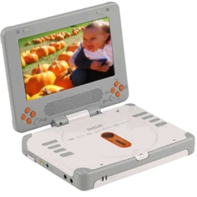 RCA DRC627N Widescreen 7 Inch LCD Portable DVD Player With 30 Integrated Games Dual Headphone Jacks 25 Hour Lithium Battery TV Guardian Accessory Kit