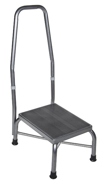 Drive Medical 13062 1sv Bariatric Foot Stool With Handrail
