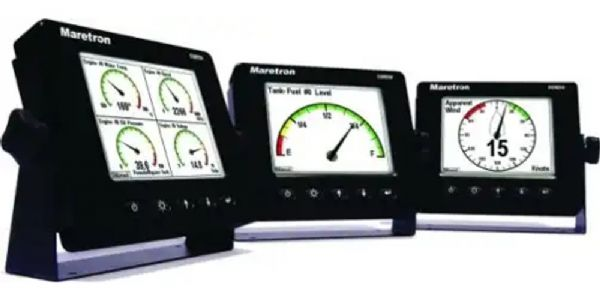 "Maretron DSM250-01 NMEA 2000 Multi-function Color Display, Black, 5.7"" Diagonal Display Viewable Area, 320 x 240 Pixels QVGA Resolution, Power Consumption (Maximum) less than 650mA, Operating Voltage 9 to 16 Volts, Size 6.875"" x 5.75"" x 1.75"", Weight 26 oz, Degree of Protection IP67 (DSM25001 DSM250 DSM-250)"