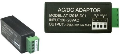LTS DV-AT12015-D01 AC/CD Adaptor, Power Converter AC 24V to DC12V 1.5A (DVAT12015D01 AT12015-D01 DVAT12015-D01 DV-AT12015D01)