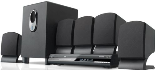 Coby DVD765 Home theater system, DVD player, speaker system Components, Dolby Digital Built-in Decoders, 5.1 channel Surround System Class, 300 Watt Output Power / Total, CD-R, CD-RW, DVD-R, DVD+RW, DVD-RW, DVD+R, DVD, CD -NTSC, PAL Media Format, MP3 Supported Digital Audio Standards, MPEG-1, MPEG-2 Supported Digital Video Standards, Parental lock, progressive scanning, JPEG photo playback (DVD-765 DVD 765)