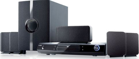 Coby DVD968 Home theater system, Speaker system, DVD player / AV receiver / digital player Components, Dolby Pro Logic II, Dolby Digital Built-in Decoders, 24bit / 96kHz Audio D/A Converter, 5.1 channel Surround System Class, 1000 Watt Output Power / Total, Coaxial Digital Output, 5 x satellite speaker - external - wired 1 x subwoofer - external - wired Speakers, Radio tuner - AM/FM - digital Type, 60 preset stations Preset Station Qty, DVD player Type (DVD968 DVD-968 DVD 968)